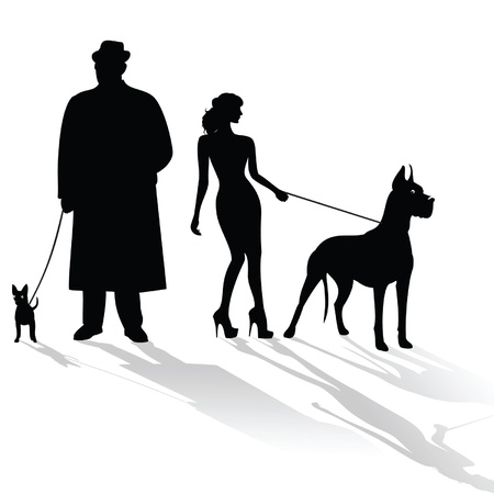 Dogs big and small Vector