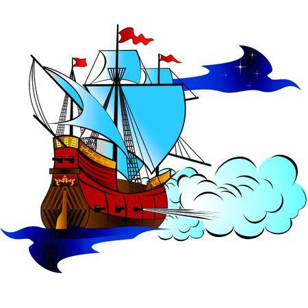 warship: firing warship