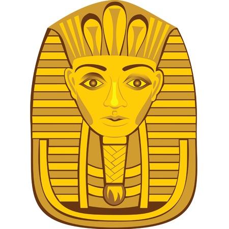 sfinx: beeld van de farao Stock Illustratie
