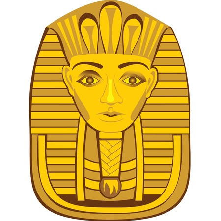 sculpture of the pharaoh Illustration
