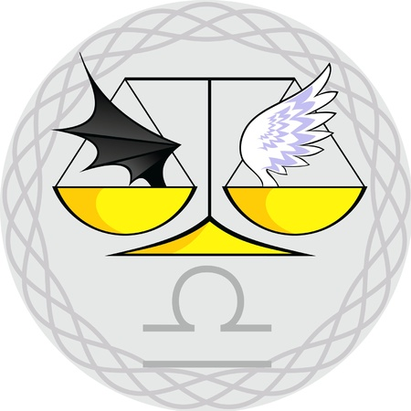 sign of the zodiac in the gray vignette Vector