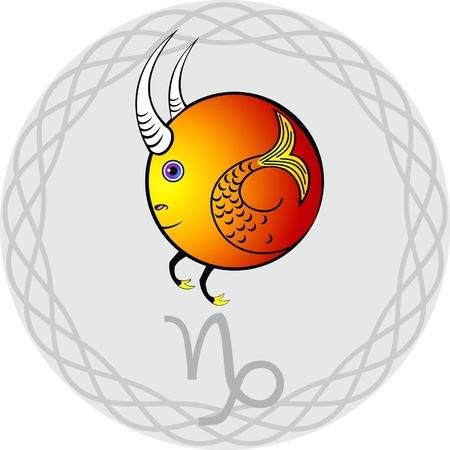 sign of the zodiac in the gray vignette