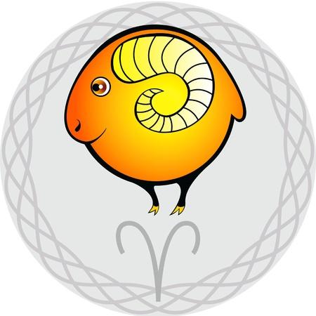 aries: signo del zodíaco en la viñeta gris