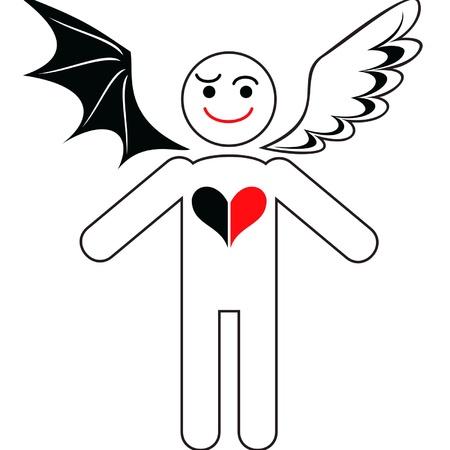 onestà: rappresentazione simbolica della unit� del bene e del male nell'uomo