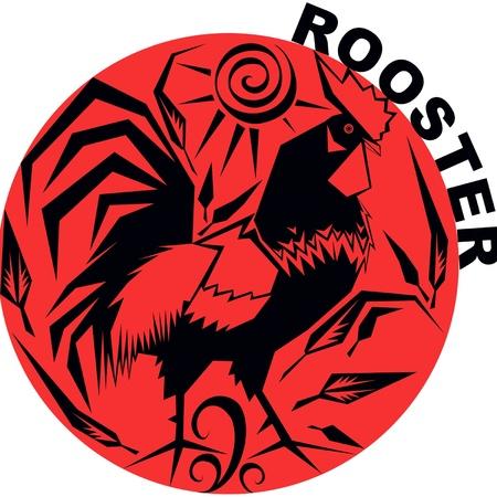 year of rooster: vector de imagen de uno de los doce signos del hor�scopo chino Vectores