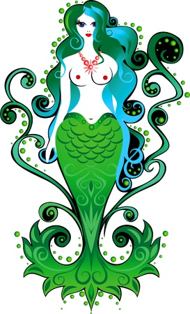 Vector image of a mermaid on an isolated background Stock Vector - 14090112
