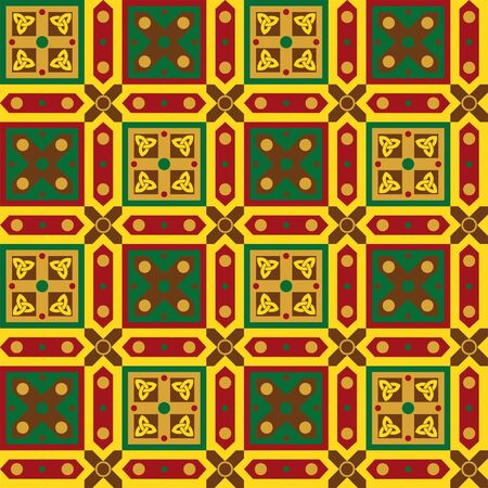 Celtic geometric seamless pattern with squares and Celtic knots Stock Vector - 15506607