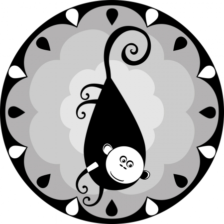 image one of the twelve signs of the Chinese horoscope Vector