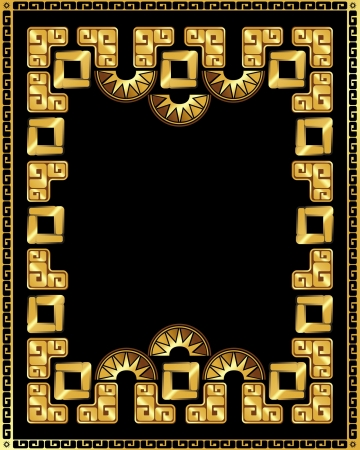 latin american: gold frame in the style of South American Indians