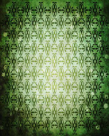 old vintage dark green background with swirls