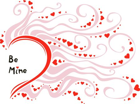 vector romantic invitation card for Valentines Day Illustration