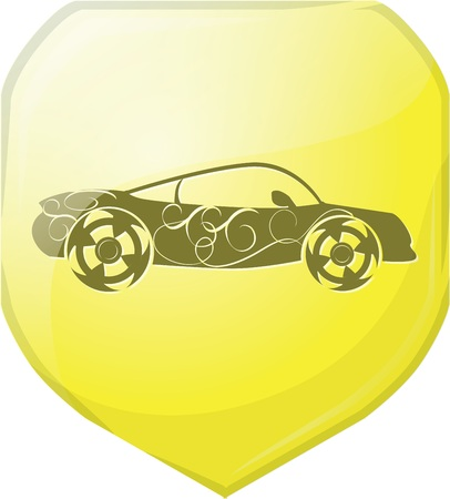 sports car icon symbols photo