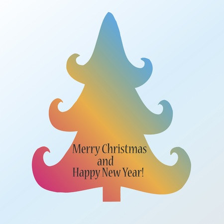 Merry Christmas Happy new year card photo
