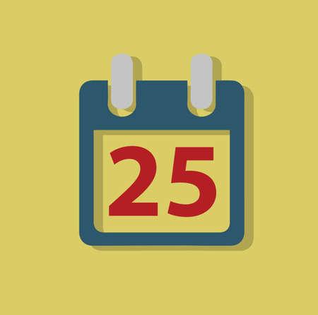 25th: calendar 25th date icon Stock Photo