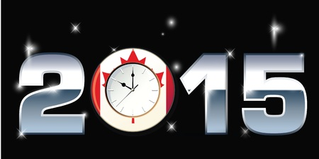 party down: Clock with Words 2015 illustration Stock Photo