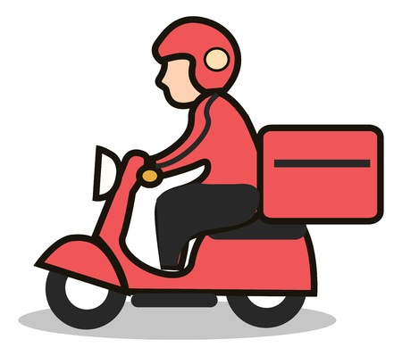 delivery scooter icon photo