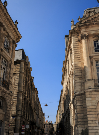 A central and significant street near the Place de la Bourse of Bordeaux in France