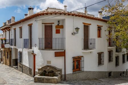 alpujarra: Beautiful view of a street corner of a village of La Alpujarra, Granada, Spain Stock Photo
