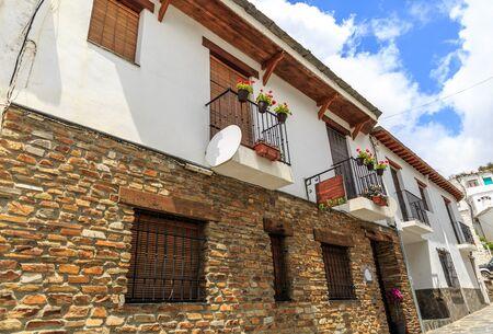 hick: Nice view of the facade of two houses, La Alpujarra, Granada, Spain