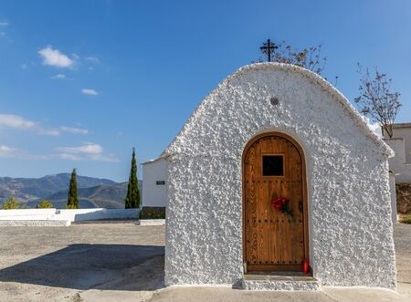 alpujarra: Small chapel in a isolated place in southern Spain, in a sunny day