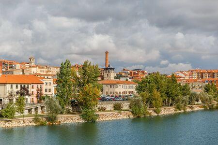 riverine: Zamora on the banks of the river Douro, Spain Stock Photo