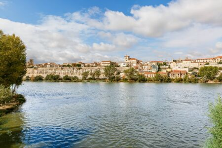 Great view of Zamora and the river bank Duero, by Via de la Plata, Spain