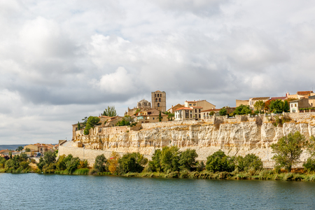 View of Zamora and its banks with the Duero river, Spain