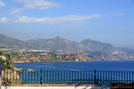 nerja: Beautiful view from a viewpoint of a Mediterranean landscape, Nerja, Spain