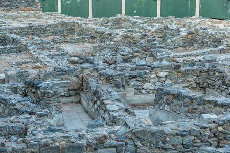 detritus: Close-up of a carefully excavated Roman ruins Stock Photo