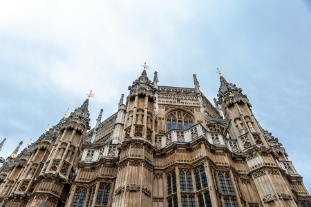 old town guildhall: Facade of the Palace of Westminster, seat of the Parliament of the United Kingdom