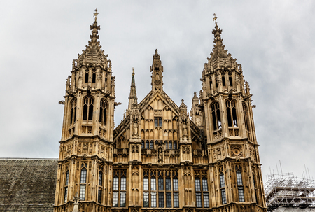 old town guildhall: View of a part of the Palace of Westminster, seat of the Parliament of the United Kingdom