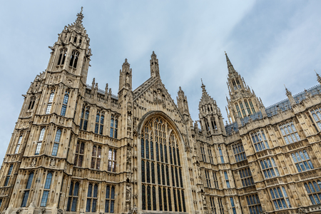 old town guildhall: Part of the facade of seat of the Parliament of the United Kingdom (Palace of Westminster)