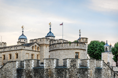 Great stone fortress of the Tower of London, UK Editorial