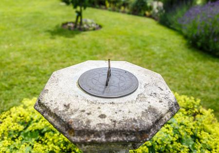 Sundial in a garden in England, UK