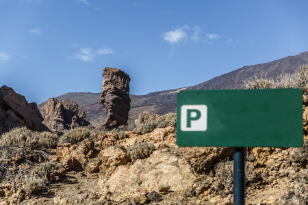 View of rocks in Teide National Park, Tenerife, Canary Islands