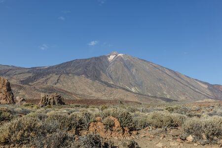 Beautiful view of the upper part of volcano Teide in Tenerife, Spain