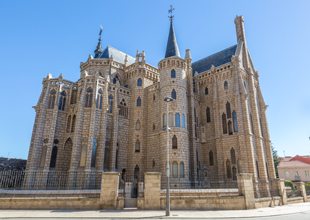 The Episcopal Palace of Astorga is a Neo Gothic building located in the Spanish city of Astorga (Leon), Spain Editorial