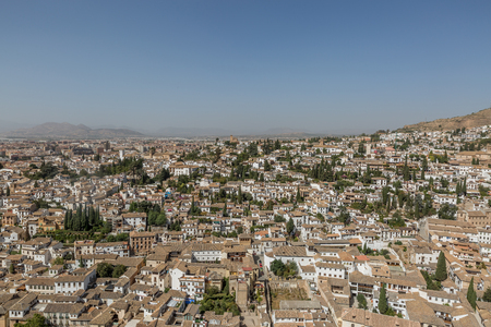 Panoramic view, cityscape of Granada city, Andalucia, Spain