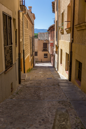 The Jewish quarter in Segovia. The Jewish quarter is a medieval neighborhood, which allows us to enter a path of encounter with the past, Spain
