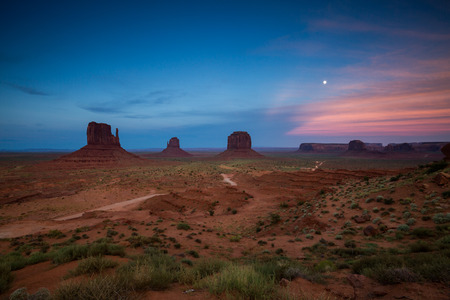 state of mood: Monument Valley at sunset, summer 2015 Stock Photo