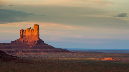 Monument Valley at sunset, summer 2015 Stock Photo