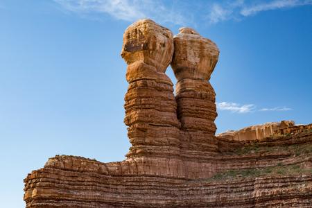 bluff: Twin Rocks in Bluff, Utah, USA