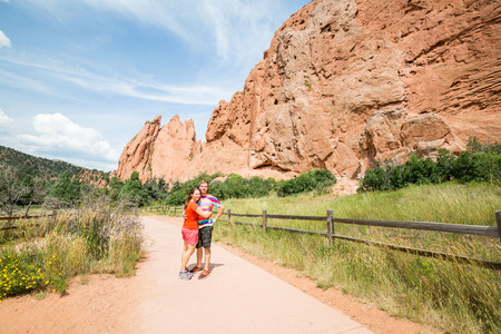 gods: Young couple in the Garden of the gods park