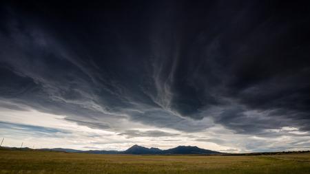 Wide open range in Alamosa County, Colorado 스톡 콘텐츠