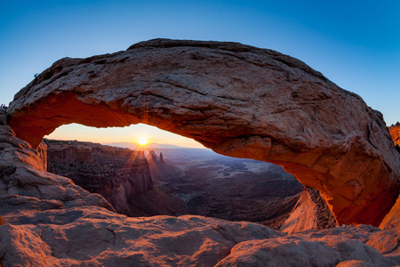 natural bridge state park: Mesa Arch at sunrise, Canyonlands National Park, Utah