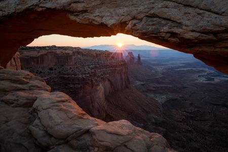 canyonlands: Mesa Arch at sunrise, Canyonlands National Park, Utah