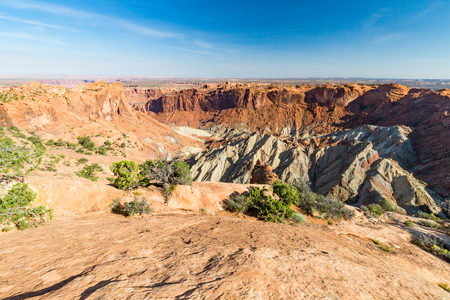 upheaval: Views of Upheaval Dome in Canyonlands National Park along the White Rim Road