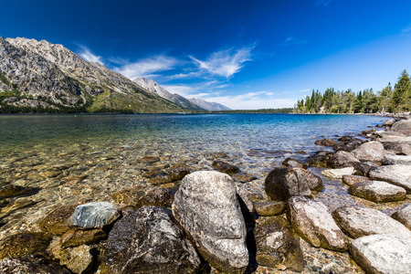 jenny: Views of the Jenny and Jackson Lakes in the Grand Teton National Park, Wyoming