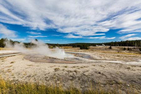 spasmodic: Upper Geyser Basin - Walkway in Yellowstone National Park, Wyoming