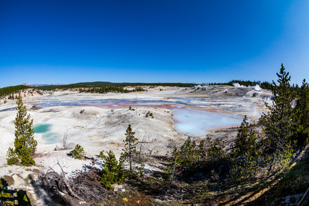 steam mouth: Norris Geyser? in Yellowstone National Park, USA
